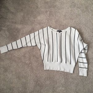 EXPRESS stripped sweater gray and black
